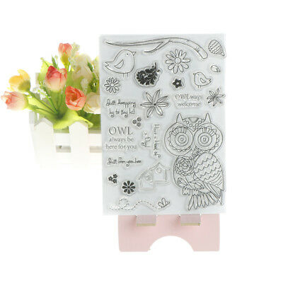 Owl DIY Transparent Silicone Clear Stamps/seal Scrapbooking Album Cards DecoRSDE