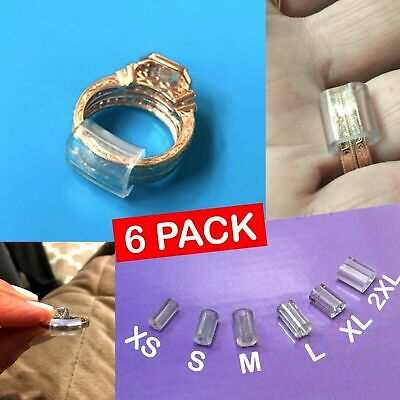 3e3f1fab8baed RING RESIZER INVISIBLE Size Reducer Spacer Guard Adjuster 6 Pcs Tightener