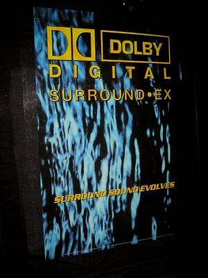 Original 2001 DOLBY DIGITAL SURROUND EX DS Theatre Poster GREAT FOR HOME THEATER
