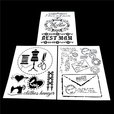craft layering stencils template for walls painting scrapbooking stamping neRSDE