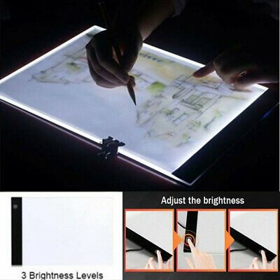 Dimmable USB A4 LED Light Box Tracing Board Art Stencil Drawing Pattern PaRSDE