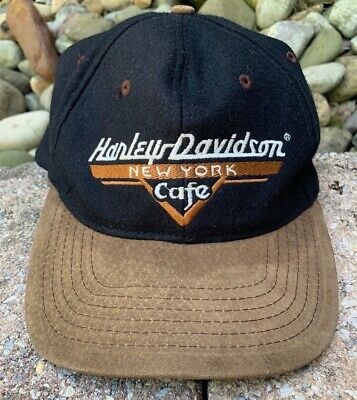 17b1e47f2 HARLEY DAVIDSON BLACK Baseball Cap Hat Snapback Youth Flames ...