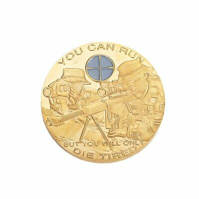 "Special Forces Sniper ""You Can Run, But You Will Only Die Tired"" Challenge Coin"