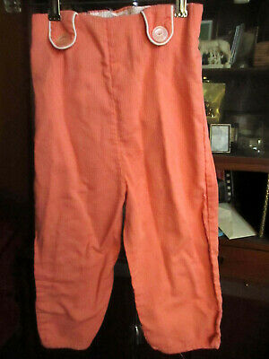 4T 3T GIRLS Vtg 50s MISS N SIS ALL COTTON SALMON PINK RIBBED PLAY PANTS 20""
