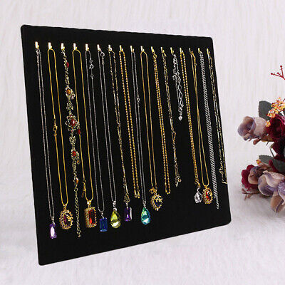 Black Velvet Necklace Chain Jewelry Display Stand Holder Organizer Bust Easel UK