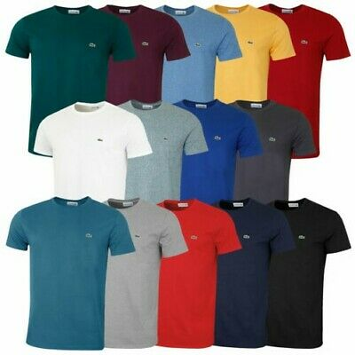 Lacoste Mens 2019 SS Crew Neck Pima Cotton TH6709 Jersey Tee T-Shirt