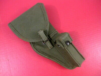 post-WWII Canada Military Canvas Holster for Browning P35 Hi Power Pistol - 1953