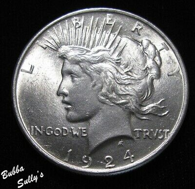 Unc Uncirculated Collectibles Strict 1924 Peace Silver Dollar Coin Other Banking & Insurance
