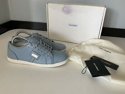 Dolce & Gabbana D&G Boys Sneakers, Trainers, Eu38, Blue Leather, VGC