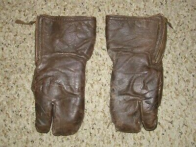 Us Navy Aero Naval Gunner's Sheepskin Flying Mittens Gloves