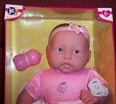 """NEW VHTF Berenguer 20"""" Lots To Cuddle Babies 2018 JC Toys Baby Doll Pacifier NIB"""