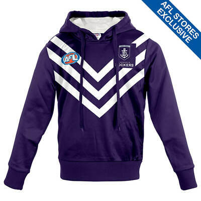AFL Fremantle Dockers Youth Long-Sleeved Guernsey Hoody.