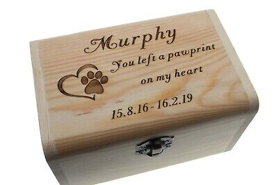 Large Medium Small Pet Urn Dog Cat Wood Personalized Pet Cremation Ashes Box Urn