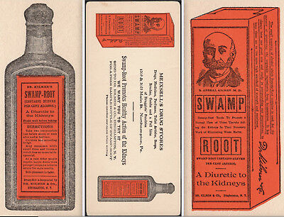 Dr Kilmers Swamp Root Kidney Meixsell Drug Store Northampton PA old BLOTTER Card