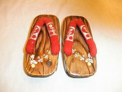 6e2766e4c57a8 VINTAGE JAPANESE WOOD geta sandals, from 1950's Japan for decor AND ...