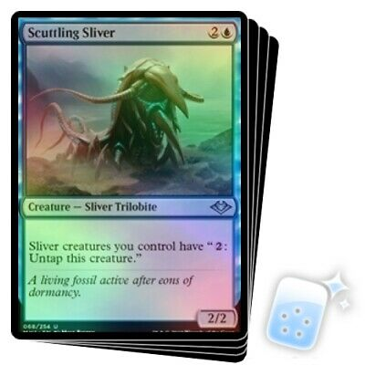 FOIL SCUTTLING SLIVER X4 Modern Horizons Magic MTG MINT CARD