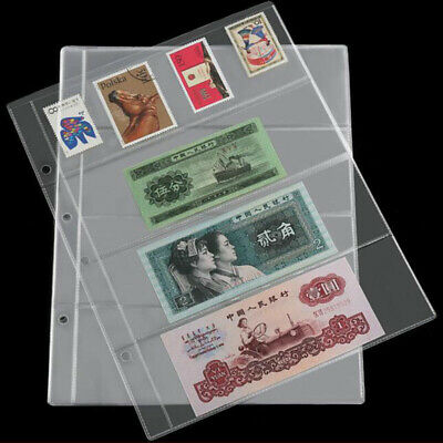 10 Pcs Note Banknotes Currency 4-Pocket Holders Pages Album Paper Money Sleeves