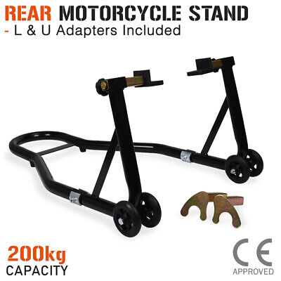 Motorcycle Stand REAR Motorbike Lift Heavy Duty Paddock Carrier Fork Bike Hoist