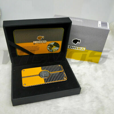 COHIBA Classic 3 TORCH JET FLAME CIGAR CIGARETTE Metal LIGHTER with PUNCH no box