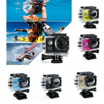1080P Full HD Waterproof Sports DV Camera Action Bike Car Cam Video Camcorder