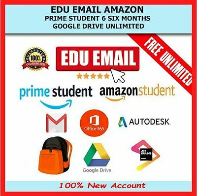 100x EDU Email - Amazon Prime 6months +Unlimited Google Drive (Instant Delivery)