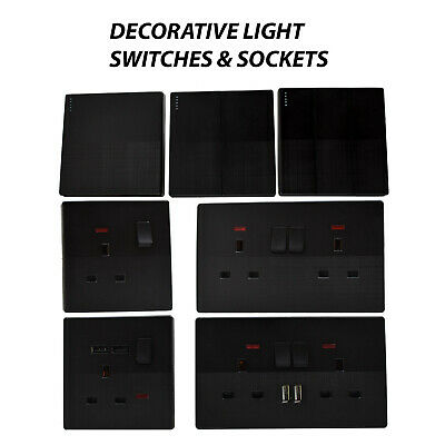 VINTAGE LIGHT SWITCHES &SOCKETS Single/Double DECORATIVE PLUG with/without USB