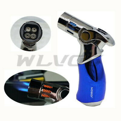 Stylish Four Torch Jet Flame Windproof Refillable Cigarette Cigar Lighter No Box