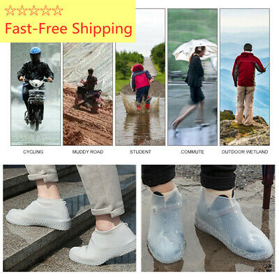 Silicone Overshoes Rain Waterproof Shoe Covers Boot Cover Protector Reusable New