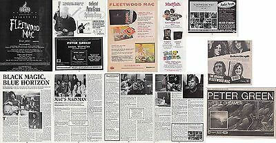 PETER GREEN- FLEETWOOD MAC : CUTTINGS COLLECTION -adverts-