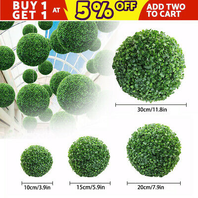 Artificial Buxus Balls Topiary Tree Boxwood Fake Grass Plant Decoration Outdoor