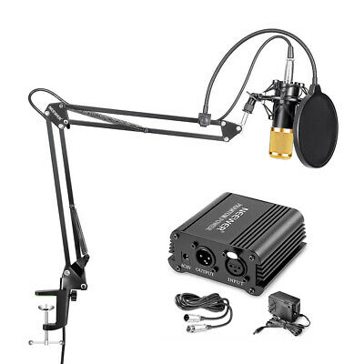 Neewer NW-800 Condenser Microphone (Gold) & NW-35 Suspension Boom Stand Kit