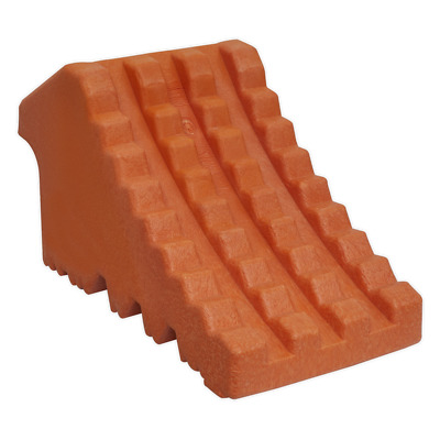 WC13 Sealey Polyurethane Wheel Chock 0.7kg - Single [Ramps & Chocks]