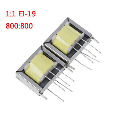 2Pcs audio output transformer 1:1 EI-19 EI19 800:800 high quality SH