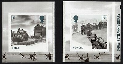 2019 D-DAY  SELF ADHESIVE Single Stamps from Booklet PM67