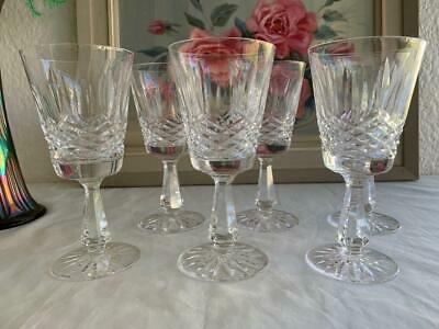 GORGEOUS VINTAGE WATERFORD LISMORE CRYSTAL 6pc WINE / LIQUOR GLASSES