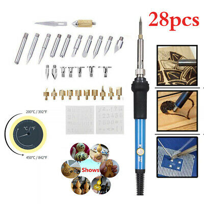 HOT 60W Wood Burning Pen Soldering Tool Crafts Tools Set Pyrography Kit Tip 2019