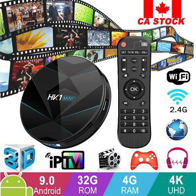 CA Android 9.0 Quad Core TV Box  4GB+32GB WiFi Smart 3D Video Media Player HOT