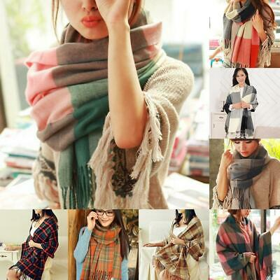 Autumn Winter Women Dual-use Shawl Wild Thick Warm Long Scarf EN24H 01