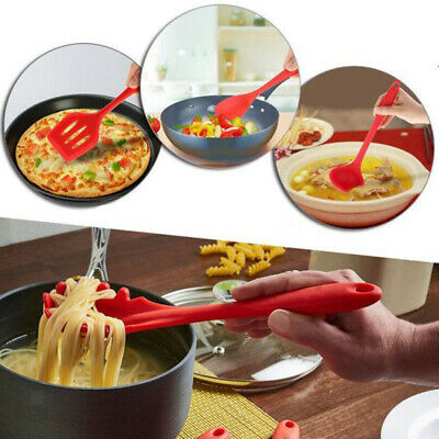10pcs Silicone Creative Kitchen Utensil Set Outils de cuisine Solid Coating