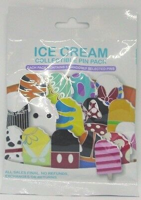 Disney Pin Collectible POPSICLE ICE CREAM Mystery Pack Randomly SEALED Set of 5