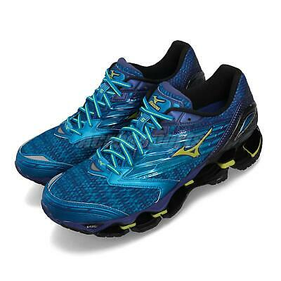 0a2d9efaf2ba Mizuno Wave Prophecy 5 V Blue Yellow Men Running Shoes Sneakers J1GC1600-47