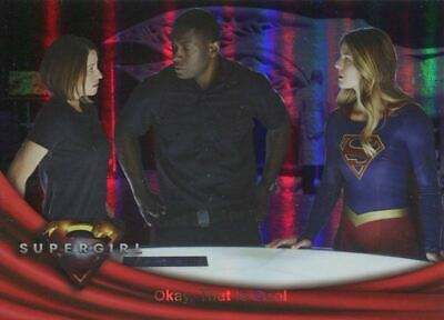 Supergirl Season 1 Rainbow Foil Base Card #17 Okay, That Is Cool