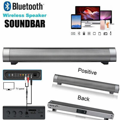 Sound Bar Wireless Subwoofer Bluetooth Speaker Stereo Super Bass For TV PC LP-08