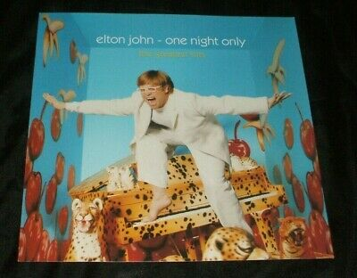 ELTON JOHN One Night Only Greatest Hits 12X12 RARE PROMO POSTER FLAT U.S. 2000