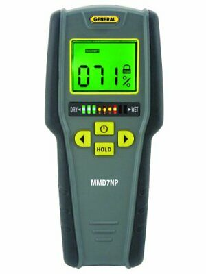 General Tools MMD7NP Moisture Meter, Pinless, Digital LCD with Tricolor Bar...