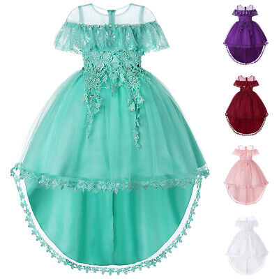 Children Wedding Party Dresses Kids Evening Ball Gowns Formal Baby Clothes Gown
