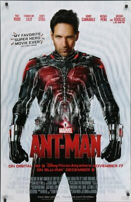 Ant-man - original movie poster - Paul Rudd - video poster  Antman