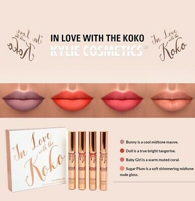 brand new in box in love with the koko make up lipsticks lip glosses nude pink