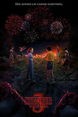 STRANGER THINGS SEASON 3 POSTER, USA Version, (Size 24 x 36)