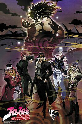 JoJo's Bizarre Adventure Poster Limited Anime Version, (Size 24 x 36)